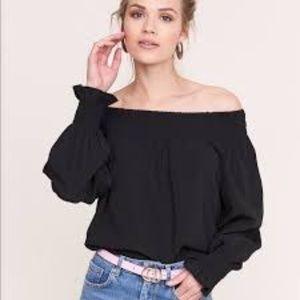 Zara black off the shoulder top